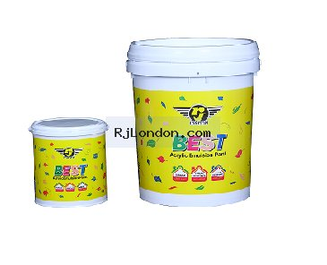 Rj london professional paint for Can you use emulsion paint on canvas